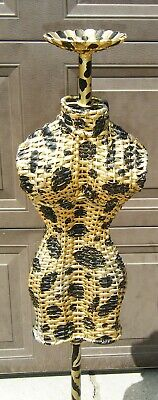 Vintage Exquisite Mini Wicker Counter Top Store Display Dress Form