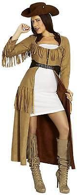 Cowgirl Mantel Wilder Westen Cowboy Karneval Fasching Kostüm 36-54