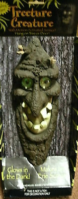 Haunted Tree Monster with Lighted Eyes and erie scream Halloween prop decoration