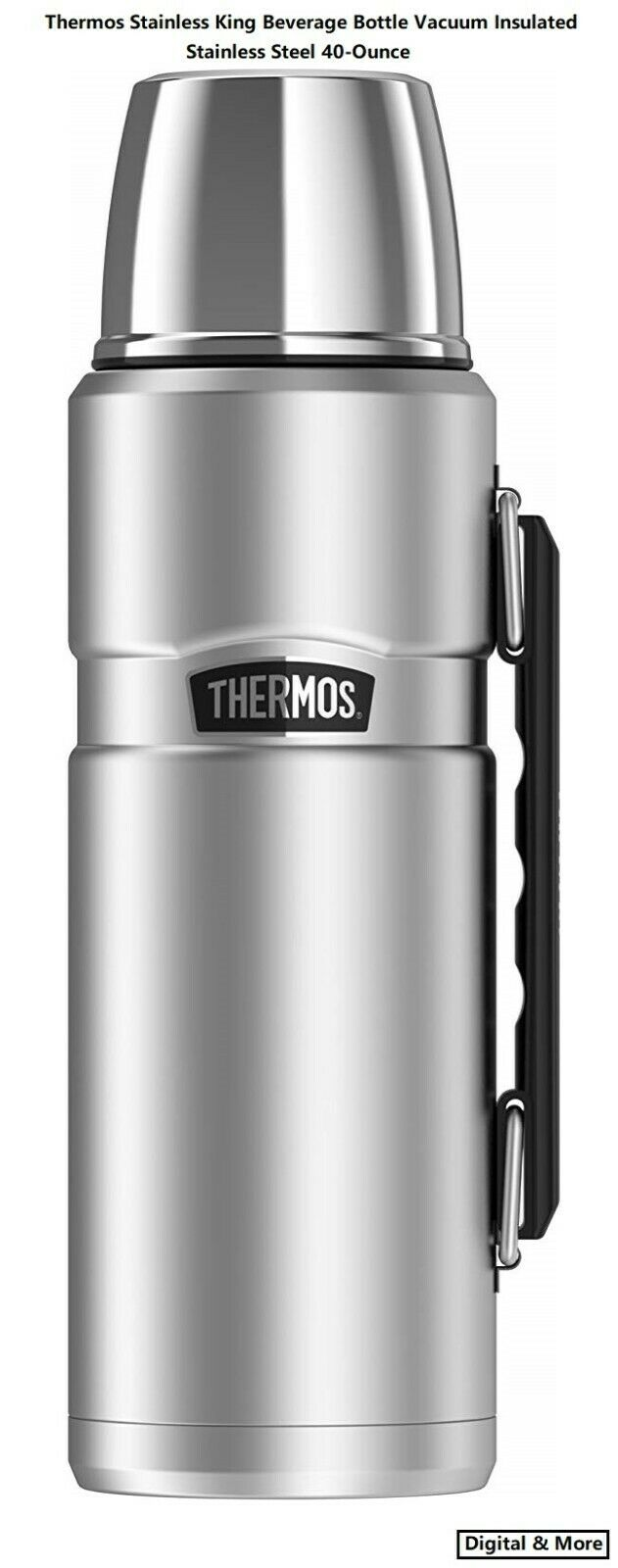 Thermos Stainless King Beverage Bottle Vacuum Insulated Stai