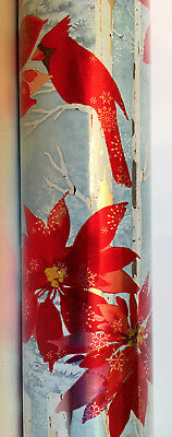 Punch Studio BIRCH TREES & CARDINALS WRAPPING PAPER.  NWT. 30