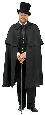 Men's Dickens Style Black Victorian Cape/Halloween/Plays/Holiday Caroling