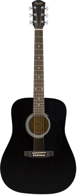 Fender Squier Dreadnought Acoustic Guitar - Black