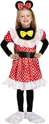 Mouse Girl Fancy Dress Up Costume Minnie Outfit Age 7-9 yrs World Book Day NEW