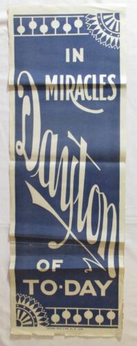 Antique PROFESSOR DAYTON Magician Spiritualism Vintage ORIGINAL MAGIC POSTER