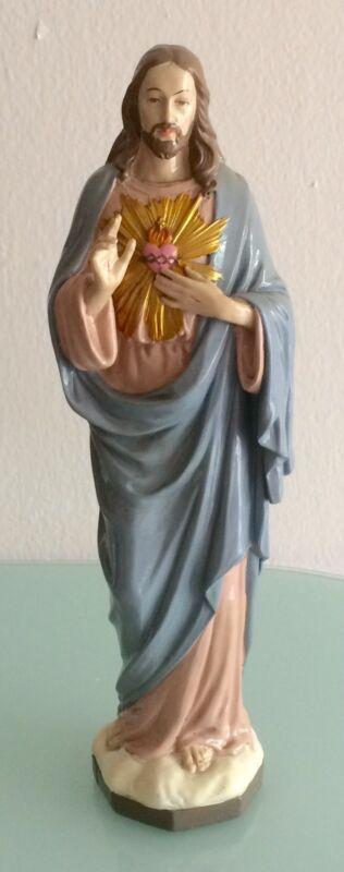 """Sacred Heart Of Jesus Statue 8"""" Altar Statuary / Resin"""