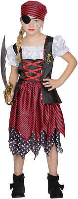Piratin Pirat Mary Kinder Karneval Fasching Kostüm 104-128
