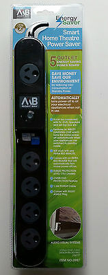 5 Outlet Surge Protector Powerboard Infra Red Remote Energy Saver Auto Standby