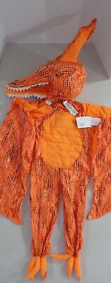 Pottery Barn Toddler Light Up Dino Orange Pterodactyl Costume Siz 7 8 Year #1600