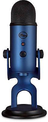 NEW  Blue Yeti USB Microphone  PC + Mac - Midnight Blue -