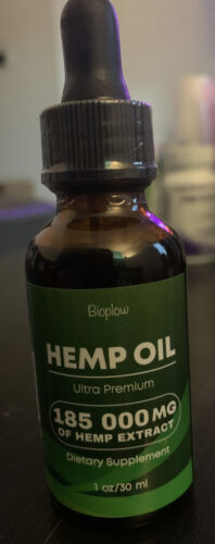Hemp Oil 185 000 mg No More Stress Anxiety Pain Immune System Support Vegan 8/21