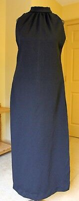 Vintage 1960s Sears Fashions long black mod dress