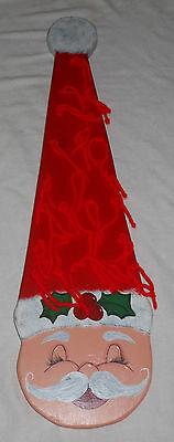 Wooden Santa Claus Indoor Outdoor Door Decoration Christmas Ornaments Advent 24