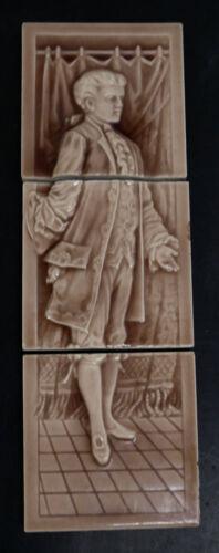 Antique Hamilton 3-Tile Panel Victorian Male