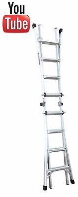 Werner MT-Series Aluminium Multi-Purpose Telescopic Combination Ladder - New