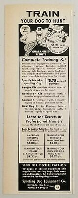 1960 Print Ad Train Your Dog to Hunt Training Kit Sporting Equipment Portland,OR