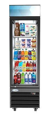 1 Door Glass Commercial Refrigerator Merchandiser Beverage Cooler 13 Cu.