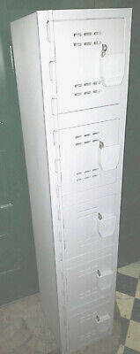 1 Plastic Gym Locker 5 Tier 12x60work Sports School Home Decor Safe Tool Box