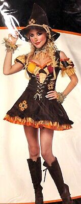 Cute Scarecrow Costume (Sassy Scarecrow Adult Women's Costume Large 10–12 Halloween Cosplay)
