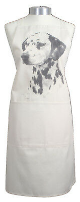 Dalmatian MS Dog Natural Cotton Apron with Double Pockets Baker Cook Ideal Gift