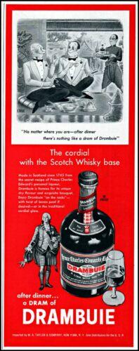 1961 Drambuie golden Scotch whisky liqueur comic art vintage print ad adl90