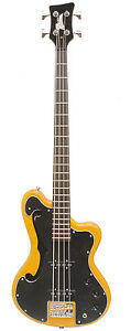 ITALIA Imola 4 string Semi Hollowbody Electric Bass Guitar AMBER