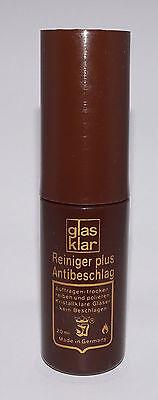 1 x GLAS KLAR Brillenglas Reiniger Pumpspray Plus Antibeschlag Anlaufschutz 20ml