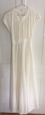 Vintage 1960s  Cream Cocktail Party Evening Wear Dress Polyester 1960s