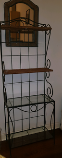 Shelves WROUGHT IRON and MIRROR