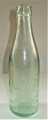 Vint. Green Early Script Straight Side Coca Cola Bottle Decatur Illinois ILL IL