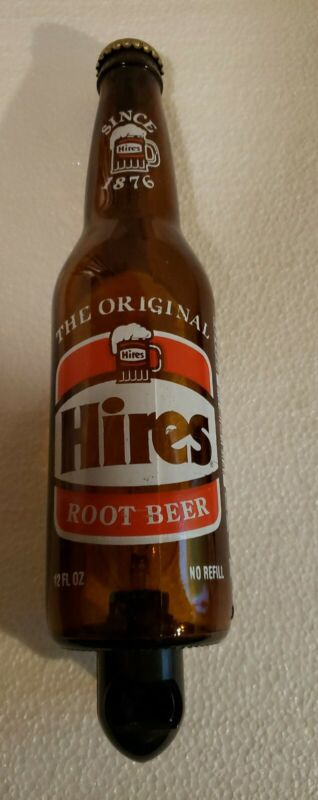 Hires Root Beer Night Light Glass Bottle 12 Oz Rare Plug-In