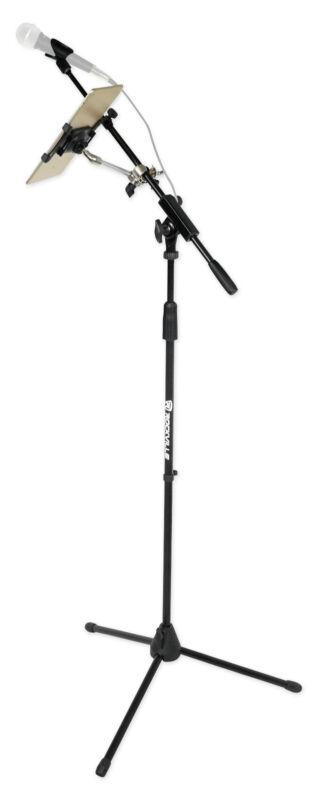 Rockville Karaoke Performance Mic Stand w/ Boom+Smartphone/Tablet/iPad Mount