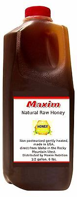 MAXIM NATURAL RAW HONEY 6 LBS., 1/2 GALLON GREAT FOR GIFTS FREE SHIPPING!