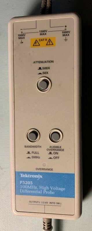 Tektronix P5205 High Voltage Differential Probe 100MHz