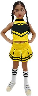 Kinder/Mädchen Cheerleader-Uniform/Kostüm Fasching/ Halloween Gelb/Schwarz
