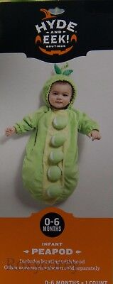 Halloween Infant Peapod Bunting Hood Costume Size 0-6 Months up to 25 in 16 lbs - Infant Halloween Costumes Bunting