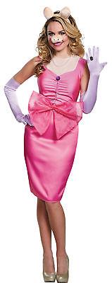 Miss Piggy Deluxe Erwachsene Kostüm Damen The Muppets Buchse Pink Halloween