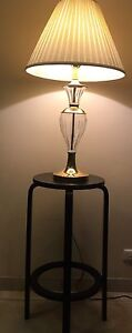 In Great condition glass light with Woden black table Mirrabooka Stirling Area Preview