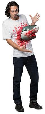Sharknado 3D Attacks Adult Costume Shirt Halloween Dress Up Rasta Imposta (Sharknado Costume)