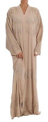 DOLCE & GABBANA Dress Cape Beige Silk Ricamo Kaftan Abaya IT40 / US6/S RRP $4500
