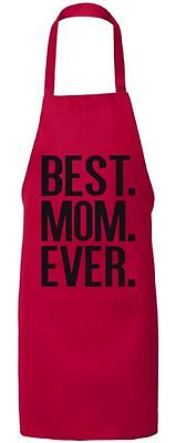 Ever Aprons (Best Mom Ever Best Mom Apron Mothers Day Aprons for Mom Kitchen Gifts for)