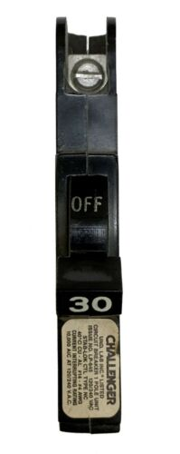 30 Amp Circuit Breaker, Federal Pacific Challenger Thin, Single Pole
