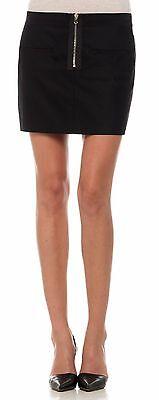 Joe's Jeans Anna Moto Style Mini Skirt Black M Nwt $168