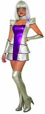 Pluto's Princess Outer Space Women Costume Metallic Pink & Silver Dress MD/LG - Women Space Costume