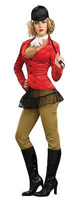 - Reiterhof - Reiterin mit Pferd Erwachsene Damen Kostüm Schier Minirock Rubies