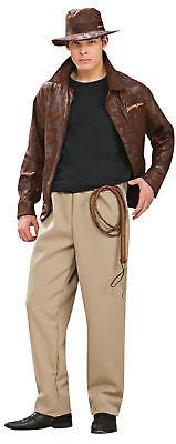 Indiana Jones Deluxe Herren Erwachsene Kostüm Jacke & Hose Kostüm Rubies