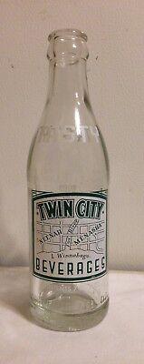 Vintage Twin City Beverages Soda Bottle Neenah Menasha Wisconsin for sale  Manitowoc
