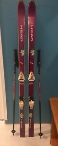 175cm Head Racing Skis and poles