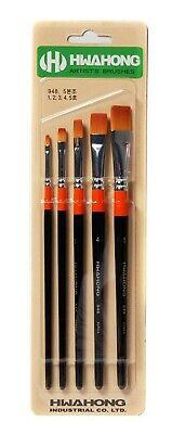 5ea Brushes Square Design Paint Watercolor Brush 1Set HwaHong