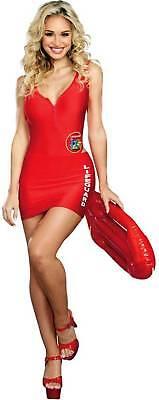 Dreamgirl On Duty Cutie Lifeguard Red Swimsuit Baywatch Women's Costume SM-XL (Lifeguard Costume Women)